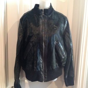 Vintage Davoucci Leather & Cowhide Jacket